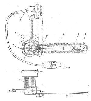 Патент №78613 Универсальная цепная моторная пила одиночного управления