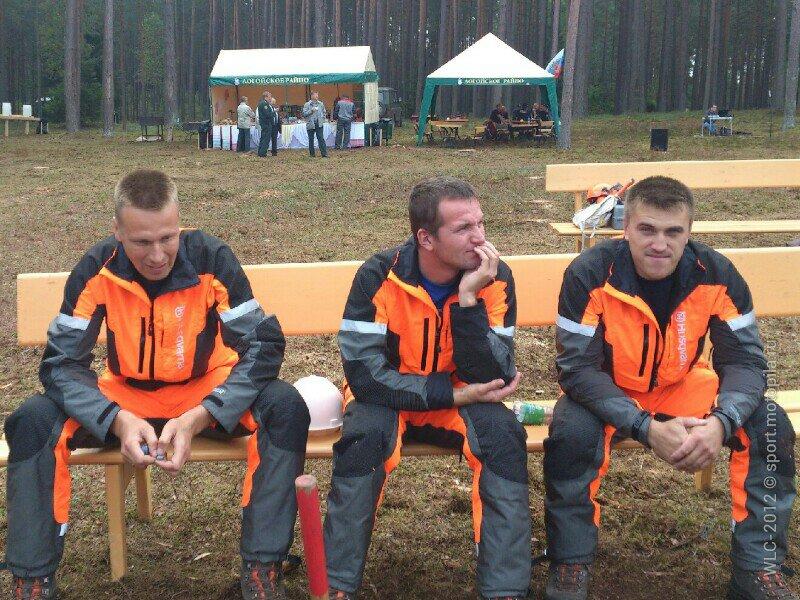 Российская команда на лесосеке